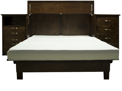 Deluxe Cabinet Bed with Side Cabinets