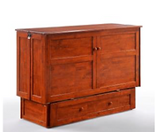 Cherry Murphy Cabinet Bed