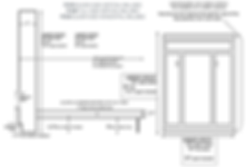 Portola Vertical murphy bed schematic with dimensions