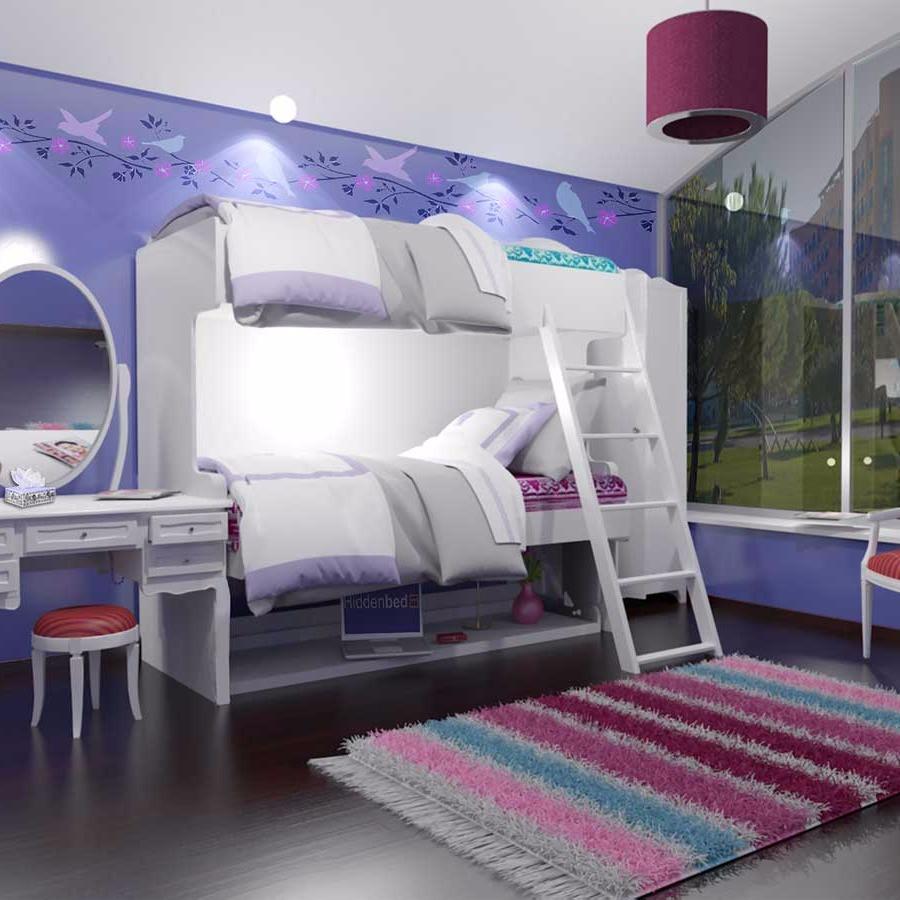 transforming double decker desk bed