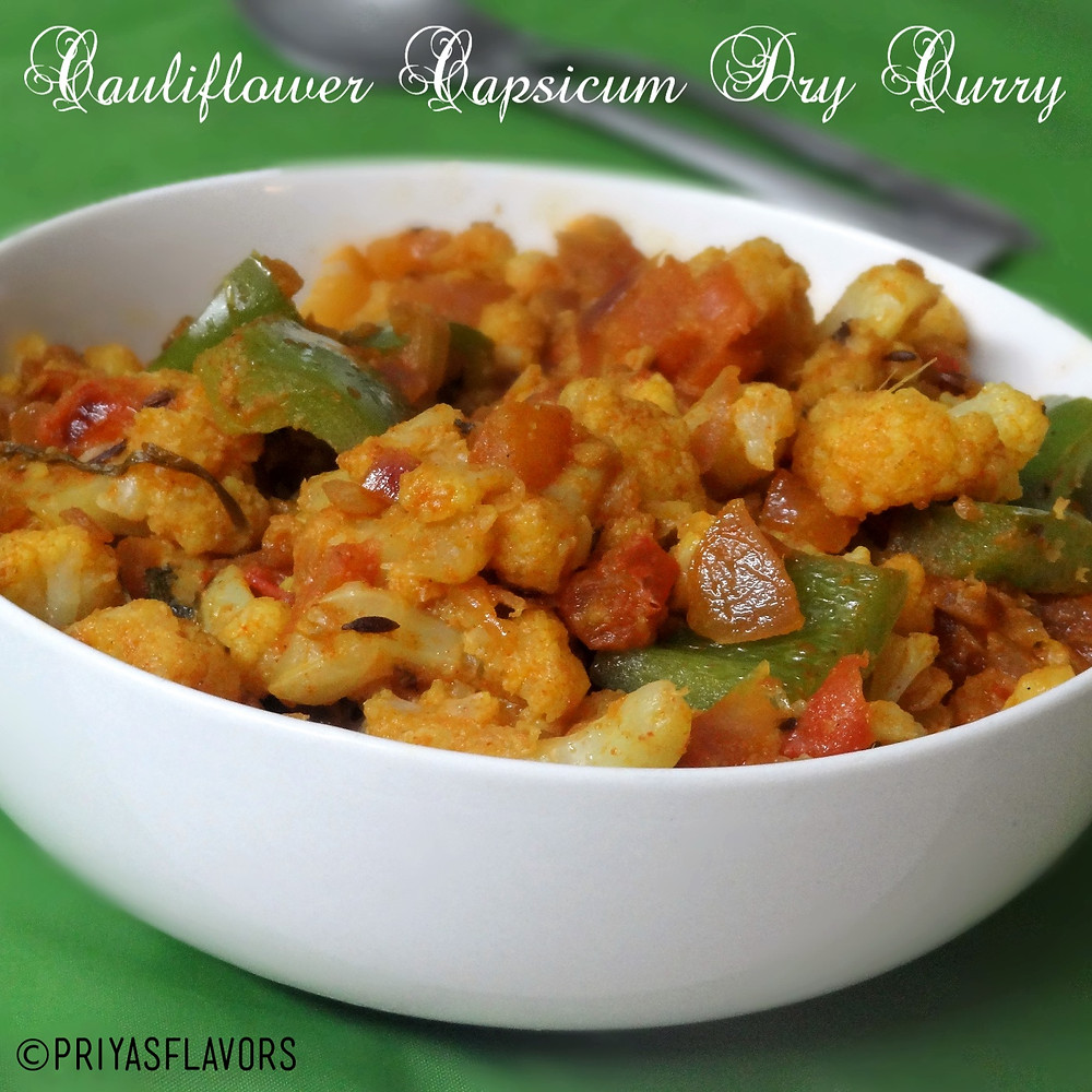 cauliflower capsicum stir fry