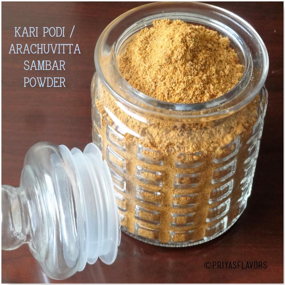 KARI PODI / ARACHU VITTA SAMBAR POWDER