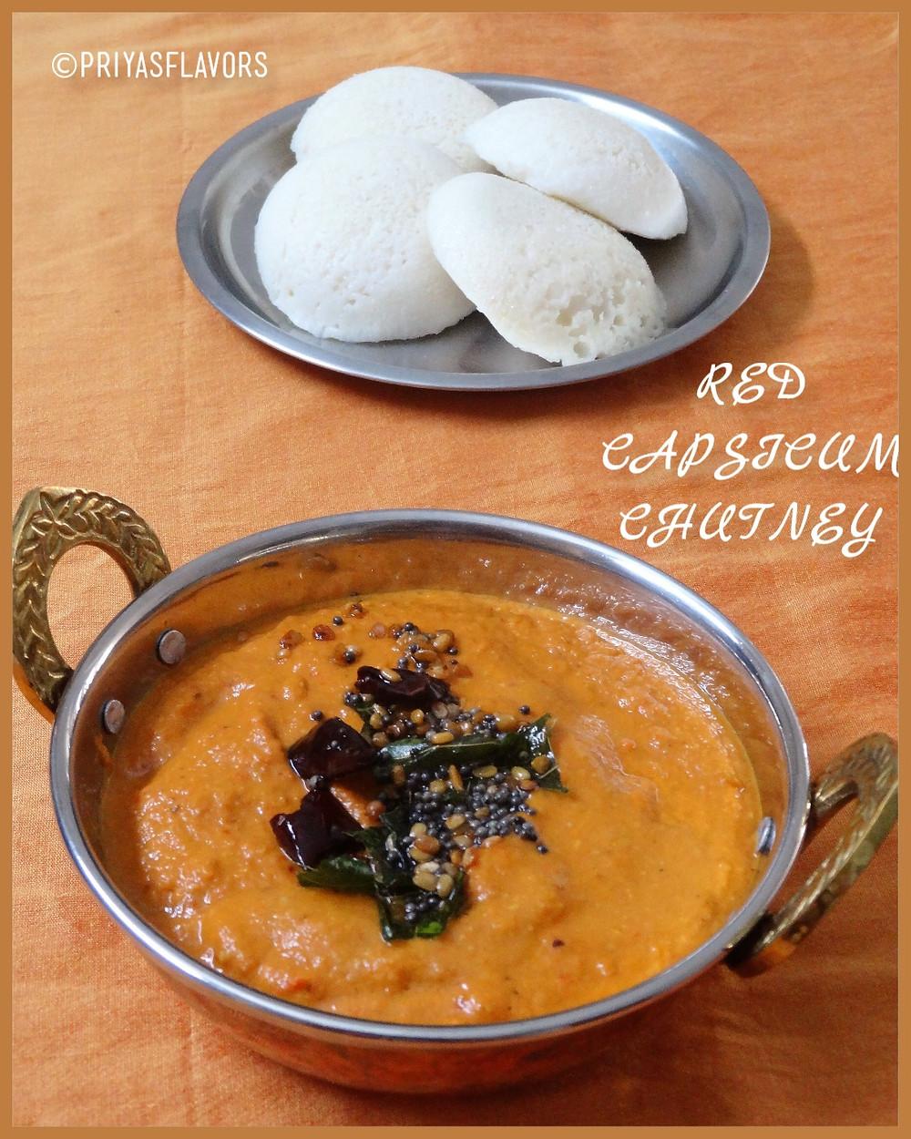 red capsicum chutney