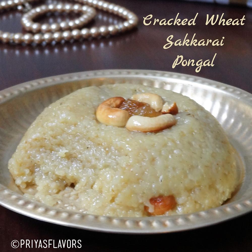 broken wheat sakkarai pongal