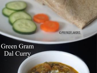 GREEN GRAM DAL CURRY / PACHAPAYARU GRAVY
