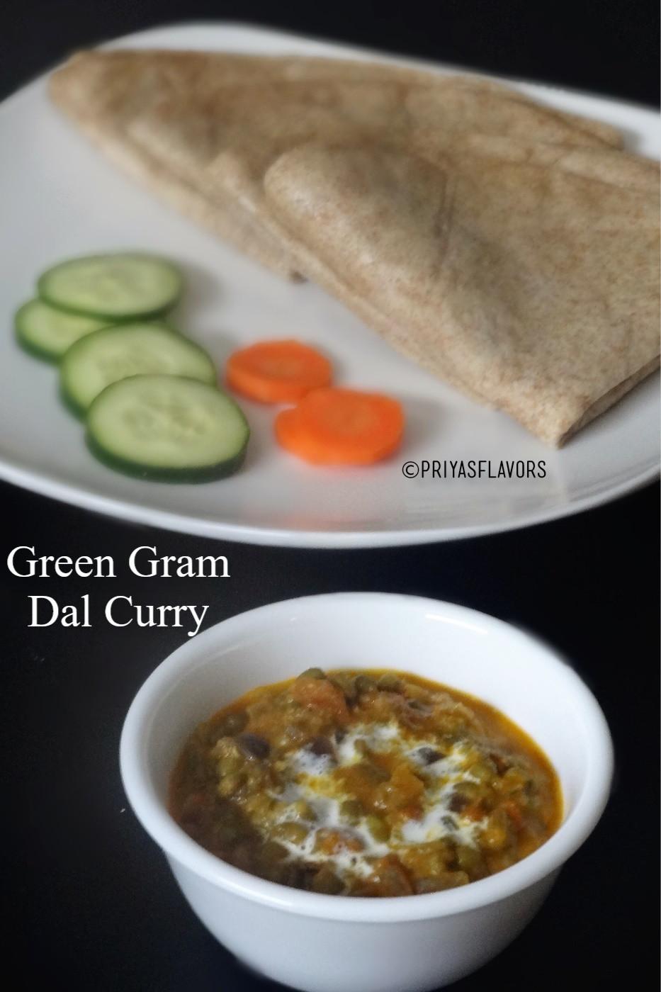 Green gram dal curry