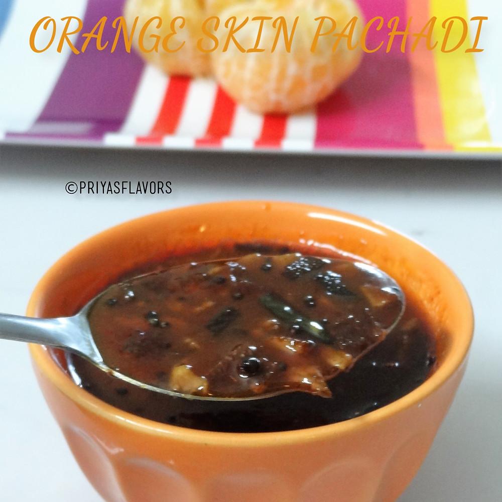 orange skin pachadi