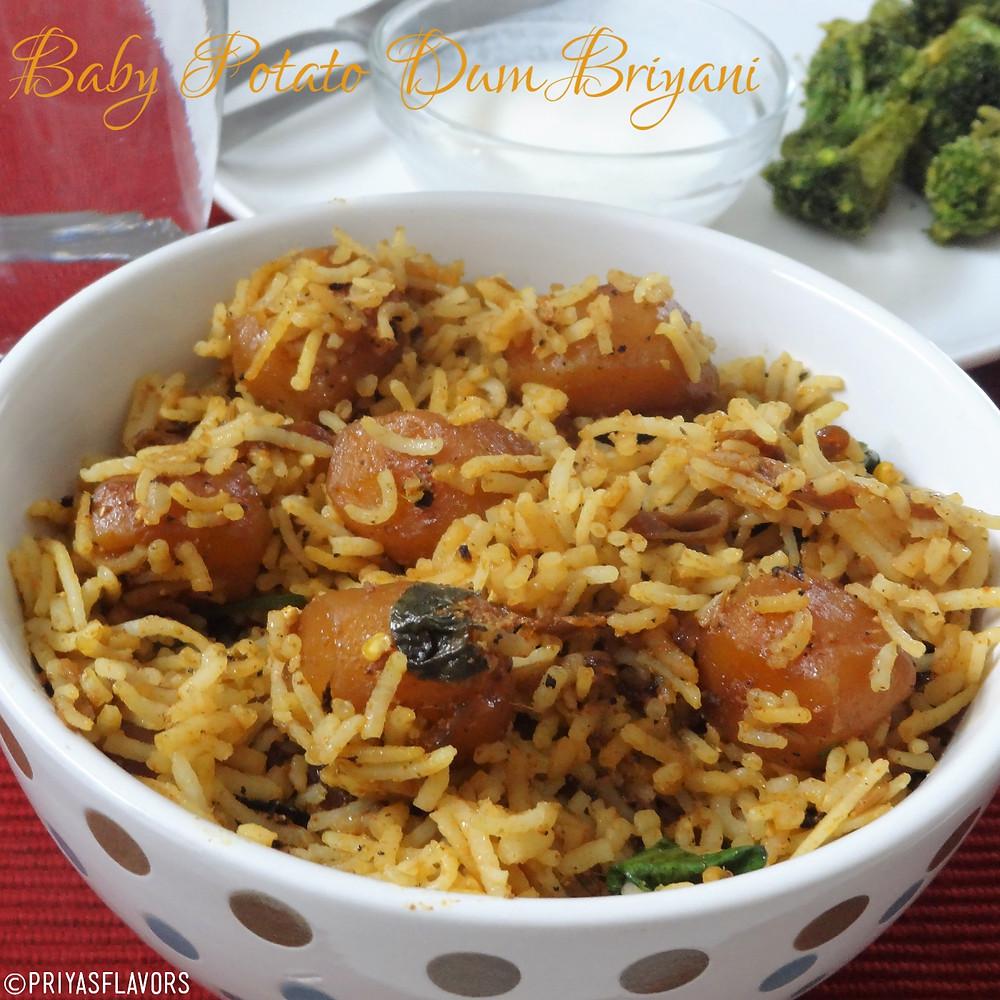 baby potato briyani