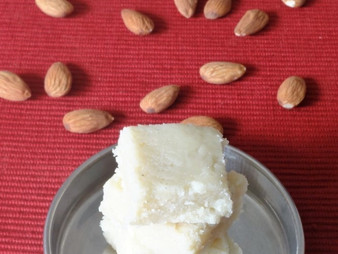 BADAM CAKE / ALMOND CAKE / ALMOND BURFI