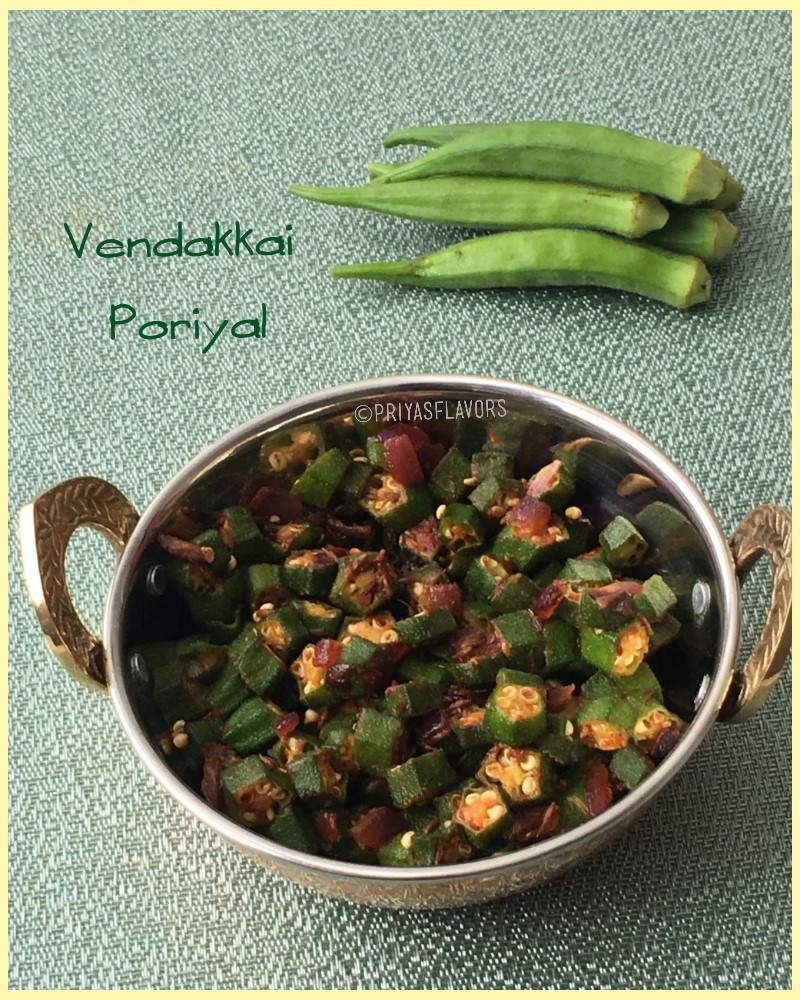 vendakkai poriyal