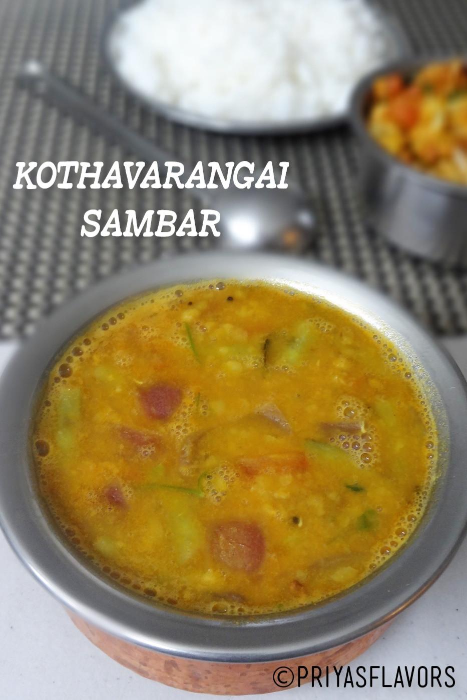 kothavarangai sambar