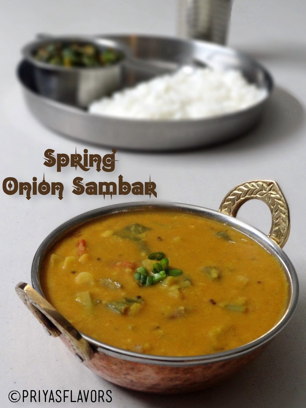 spring onion sambar