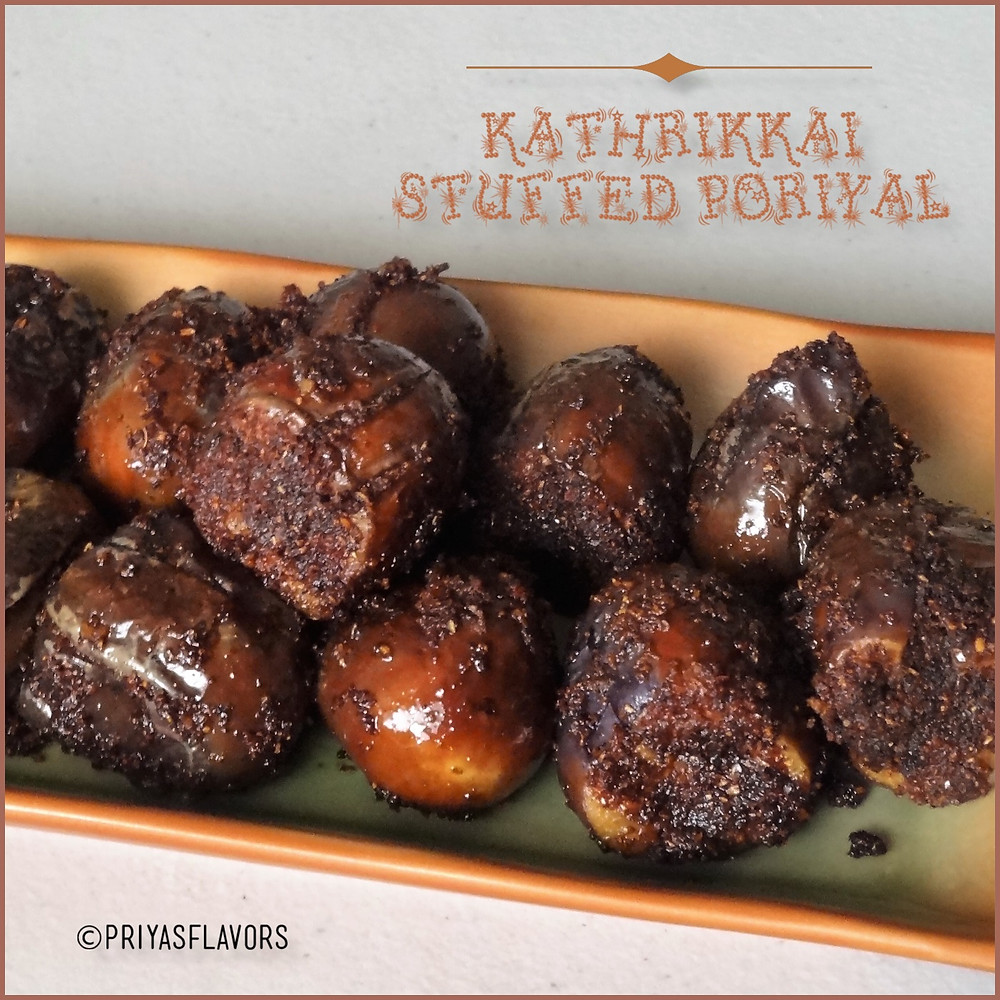 kathrikai stuffed poriyal