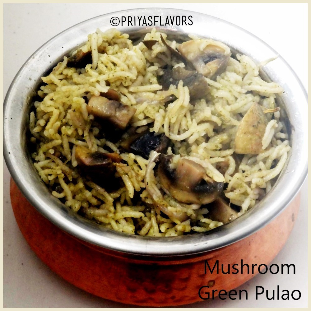 Mushroom Green Pulao