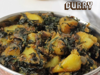 ALOO PALAK CURRY / SABZI