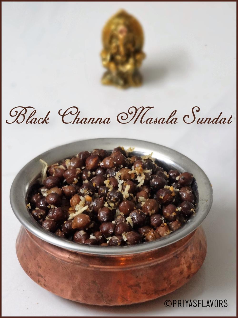 black channa sundal