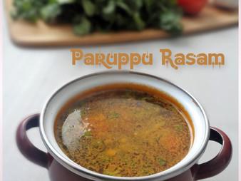 PARUPPU RASAM / TOOR DAL RASAM - WITH GARLIC
