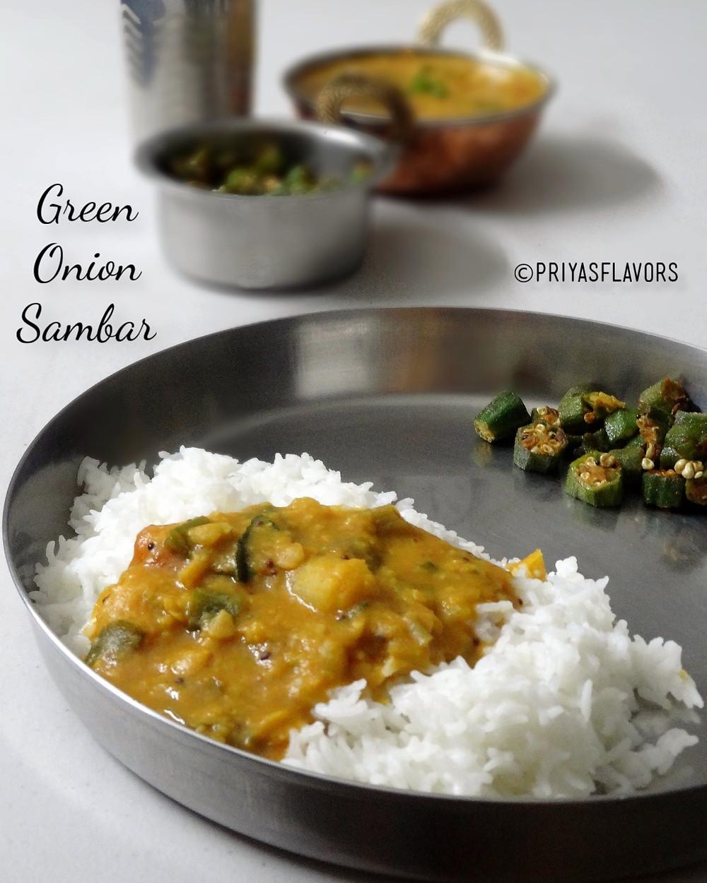 green onion sambar