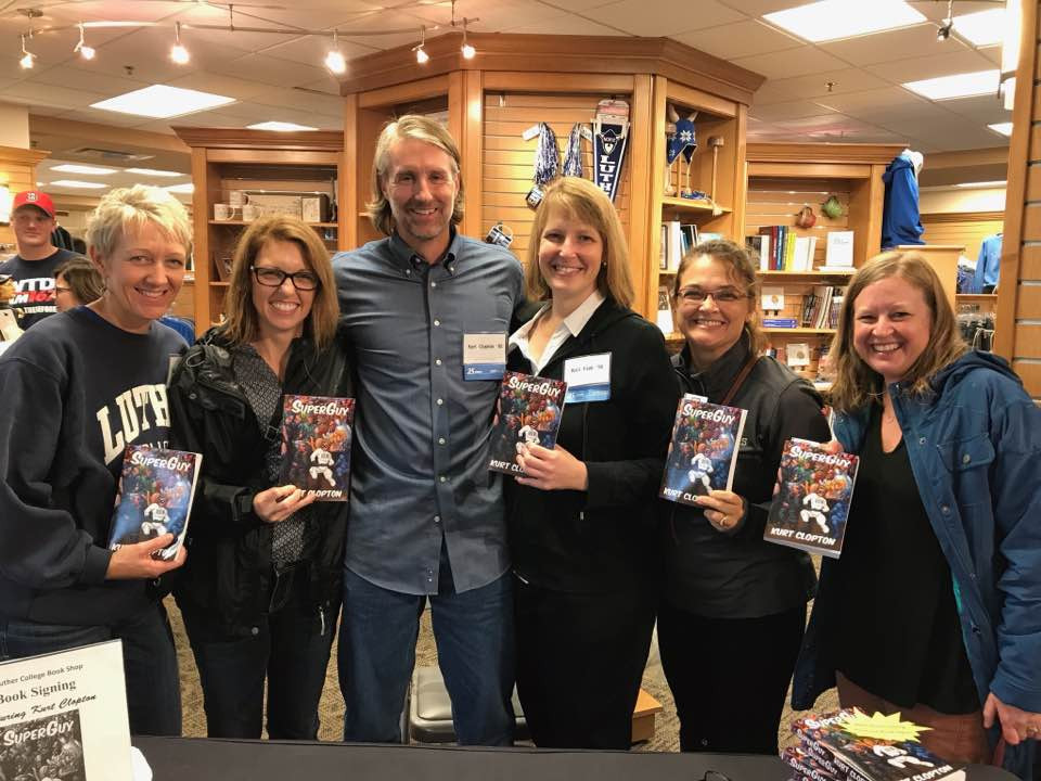 Photo of me with five women who got my book.
