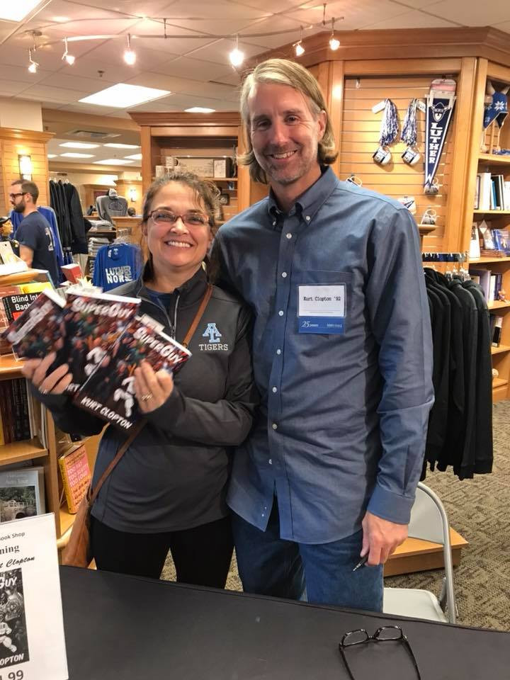 Photo of me with woman who got my book.