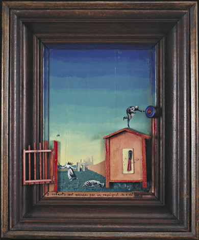 Two Children Threatened by a Nightingale, by Max Ernst