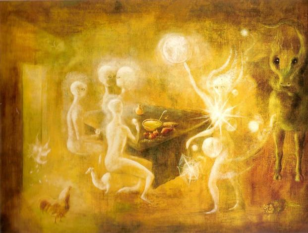 Sidhe, the White People of Tuatha de Dannan, by Leonora Carrington