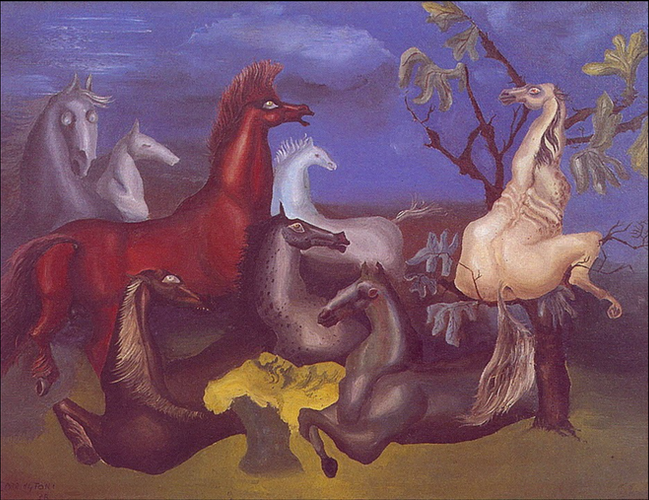 The Horses of Lord Candlestick by Leonora Carrington