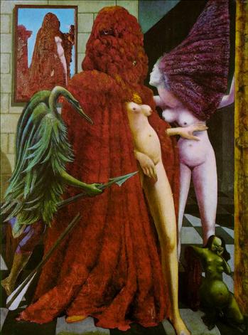 Attirement of the Bride (La Toilette de la mariée), by Max Ernst