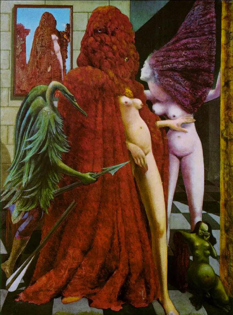 La Toilette de la mariée) by Max Ernst
