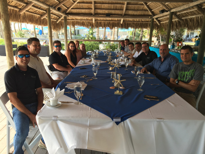 NAPLES HOMEBUILDER SHOWING EMPLOYEE APPRECIATION WITH BEACHFRONT LUNCHEON