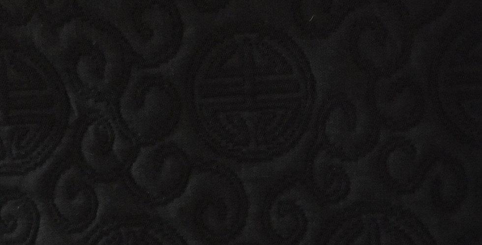 Black Asian Medallion - Chinoiserie