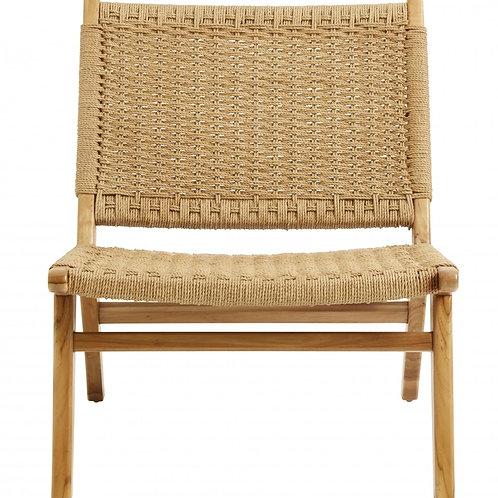 CLUB lounge chair, teak/weaving - Nordal