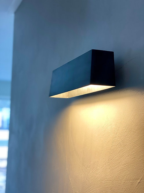Wandlamp, Sofisticato model 2 - Blauwstaal