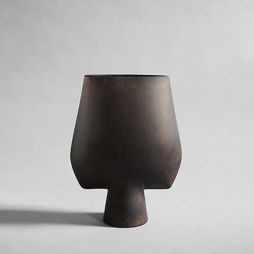 Sphere Square Vase, Big - Koffie