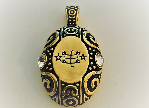 Gold Electroplate Pendant