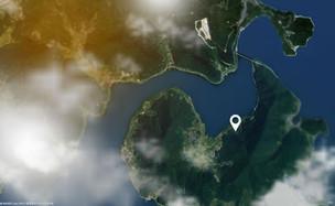 경남 고성 동해면의 위성사진