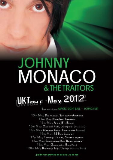 Johnny Monaco & The Traitors Tour Poster (2012) Green