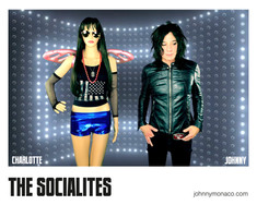 Socialites 8X10 (signed by Charlotte & Johnny)
