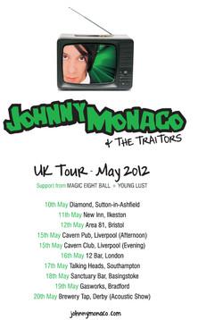 Johnny Monaco & The Traitors Tour Poster (2012) TV