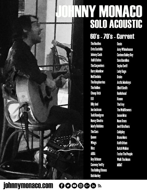 Johnny SOLO LIVE! (B&W)