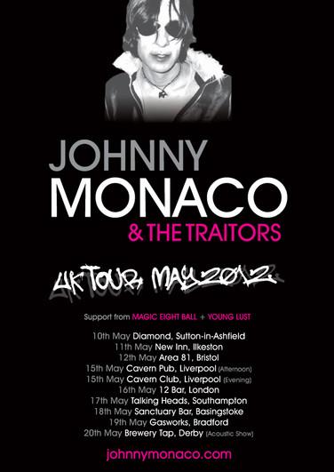 Johnny Monaco & The Traitors Tour Poster (2012) Black