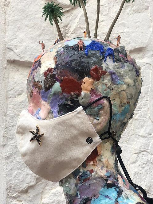 Máscara Estrella de mar blanca