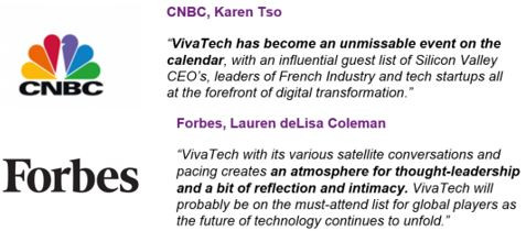 CNBC et Forbes : Vivatech is the place to be