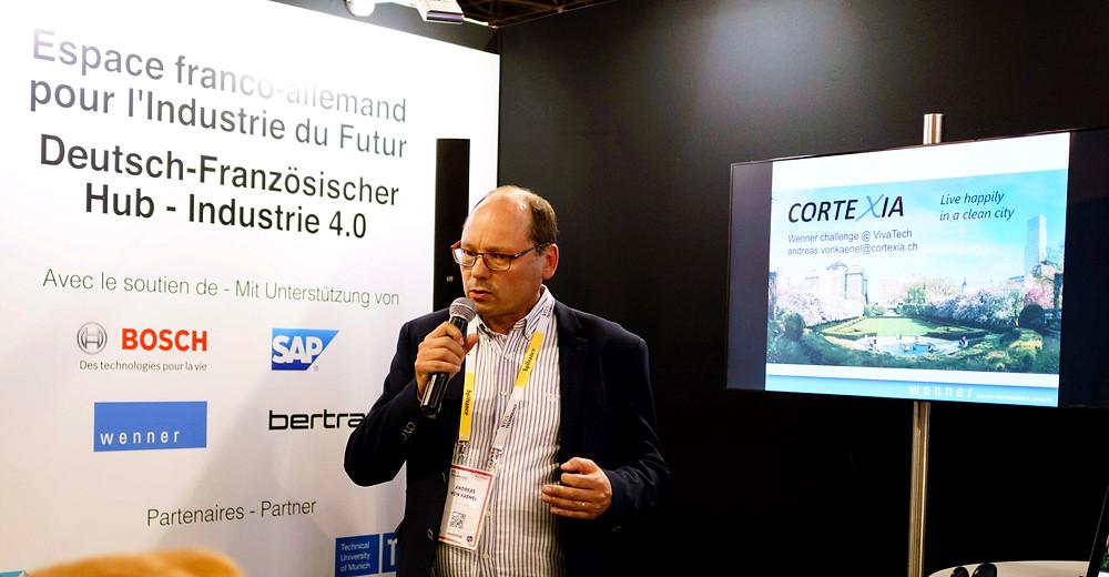 Andreas von Kaenel reçoit le premier prix pour Cortexia