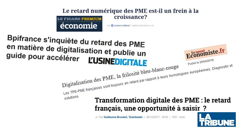 Transformation digitale: retard des PME françaises