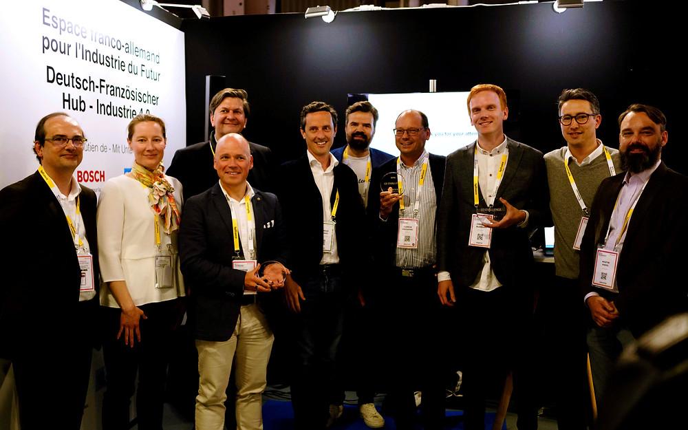 William Zanotti et les autres membres du jury ont décerné des prix à 3 start-up germanophones