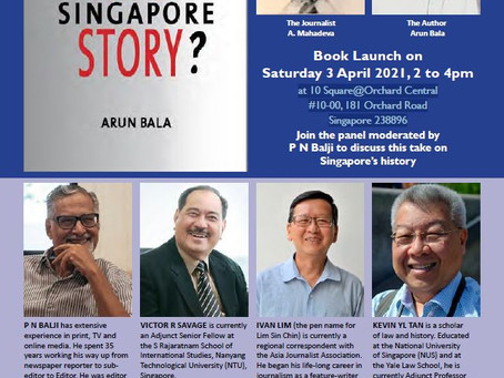 """Book Launch - """"Completing The Singapore Story?"""""""