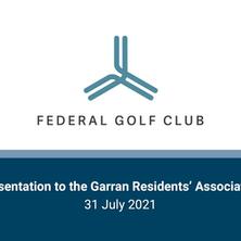 Presentation to the Garran Residents' Association