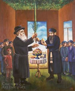 Lolav and Esrog in Succah