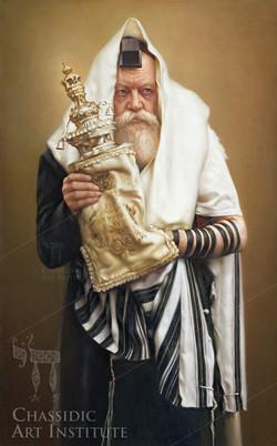 Rebbe with Torah